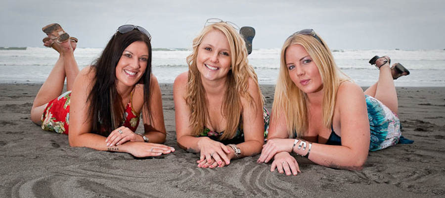 3 girls on beach